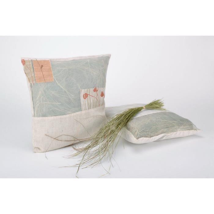 Sachet coussin avec housse de coussin de coton fait main for Housse de coussin original