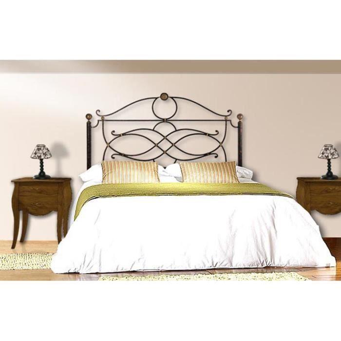 t te de lit en fer forg mod le consuelo achat vente t te de lit cdiscount. Black Bedroom Furniture Sets. Home Design Ideas