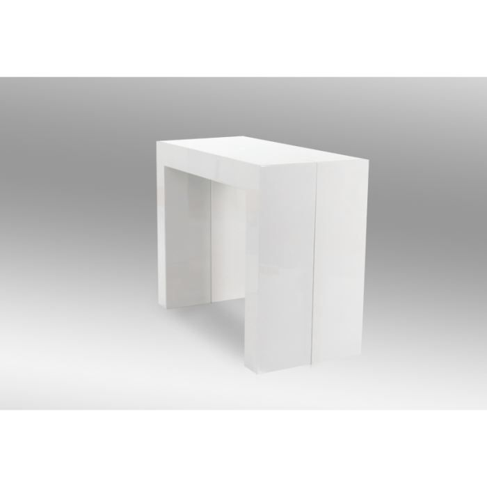 Console extensible ice blanche achat vente console extensible console ext - Console blanche extensible ...