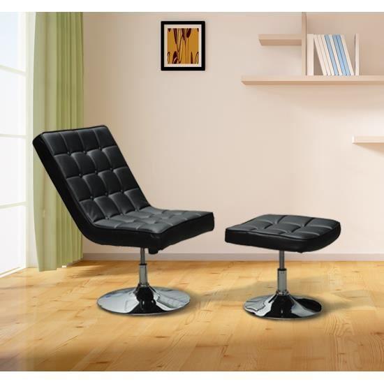 Boss fauteuil relaxation pivotant repose pied noir achat vente chaise de - Fauteuil de bureau boss ...