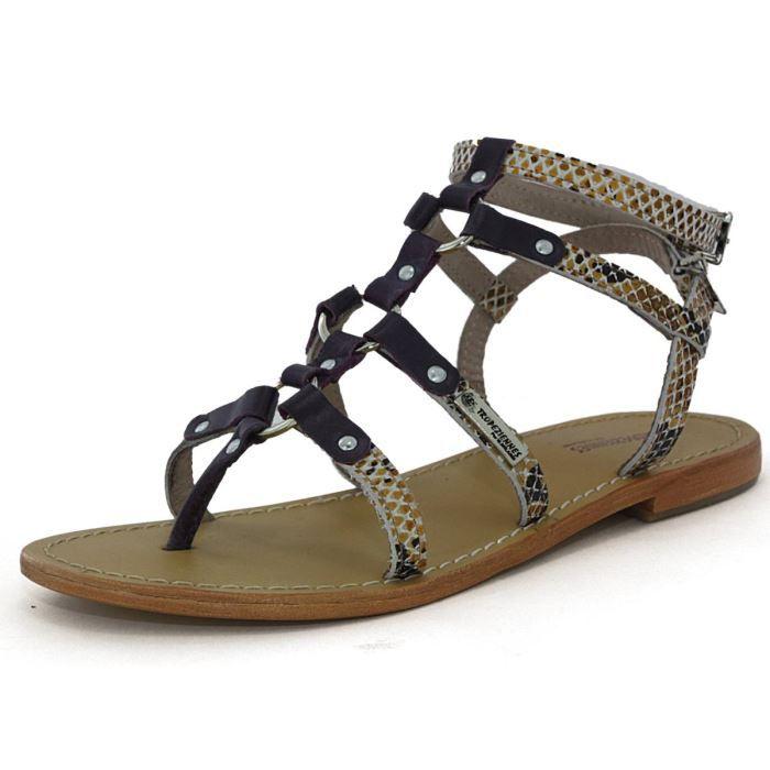 les tropeziennes sandales femm achat vente les tropeziennes sandales violet pas. Black Bedroom Furniture Sets. Home Design Ideas