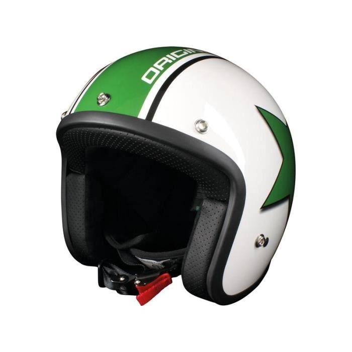 casque moto origine primo astro blanc brillant vert achat vente casque moto scooter casque. Black Bedroom Furniture Sets. Home Design Ideas