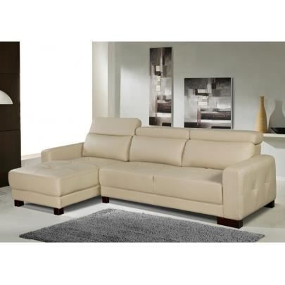 Canap d 39 angle r versible perry beige achat vente for Peri y canape