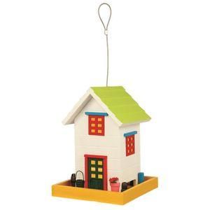 TRIXIE Mangeoire suspendue Home en bois - 18x24x18 cm - Pour oiseaux