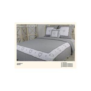 boutis gris achat vente boutis gris pas cher cdiscount. Black Bedroom Furniture Sets. Home Design Ideas