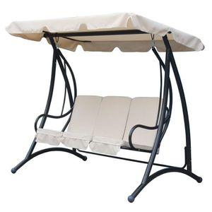 balancelle de jardin une place achat vente balancelle de jardin une place pas cher cdiscount. Black Bedroom Furniture Sets. Home Design Ideas