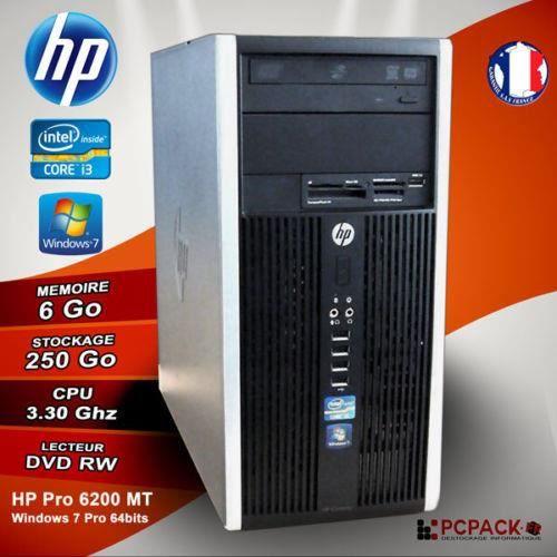 hp unite centrale pro 6200 core i3 2120 3 3 ghz ram 6go ordinateurpascher. Black Bedroom Furniture Sets. Home Design Ideas