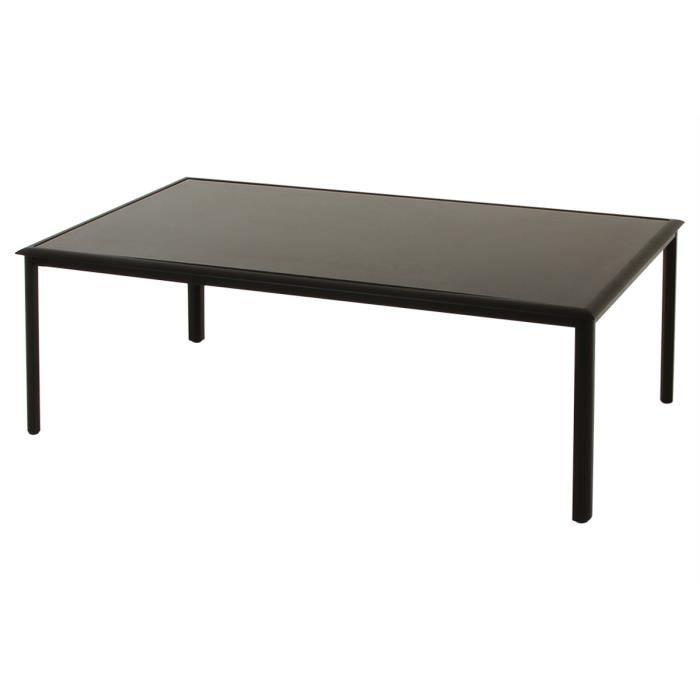 Table C Lia Noire En Aluminium 10 Places 218 X 118 X 74