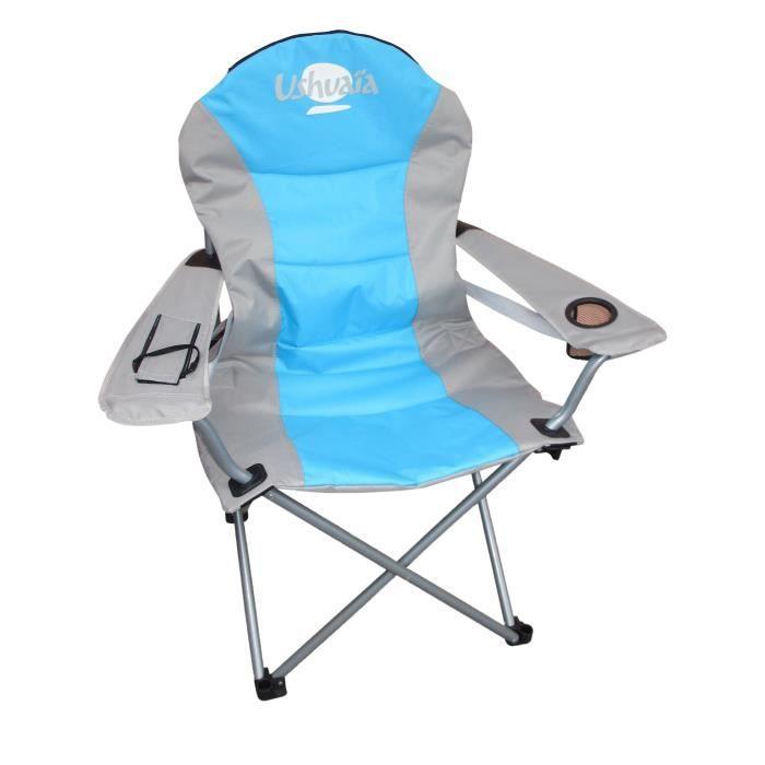 ushuaia fauteuil de camping prix pas cher soldes cdiscount. Black Bedroom Furniture Sets. Home Design Ideas