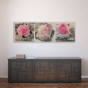 tableau gris et rose achat vente tableau gris et rose pas cher cdiscount. Black Bedroom Furniture Sets. Home Design Ideas
