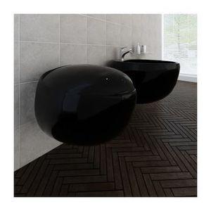 Wc suspendu noir achat vente wc suspendu noir pas cher cdiscount for Comcuvette wc suspendu noir