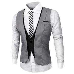 veste gillet sans manches homme slim achat vente veste gillet sans manches homme slim pas. Black Bedroom Furniture Sets. Home Design Ideas