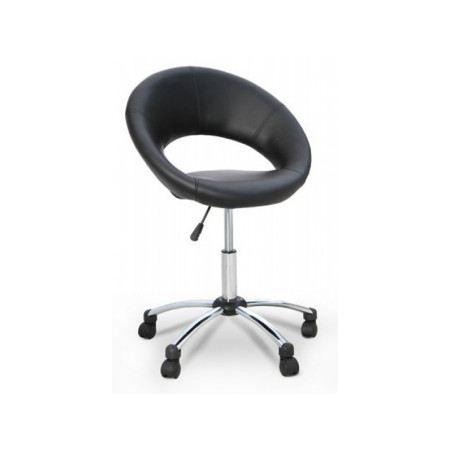fauteuil roulette lolita noir achat vente fauteuil pu m tal cdiscount. Black Bedroom Furniture Sets. Home Design Ideas