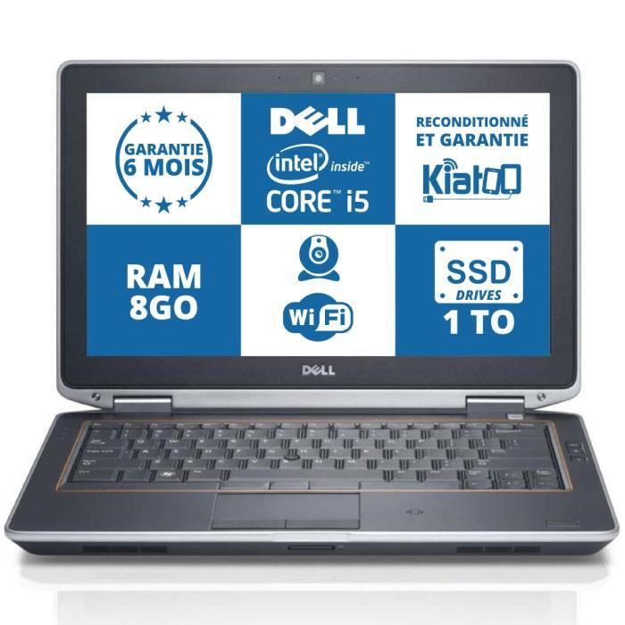 ordinateur portable dell latitude e 6220 core i5 8go ram 1to ssd drive wifi garantie 6 mois pc. Black Bedroom Furniture Sets. Home Design Ideas