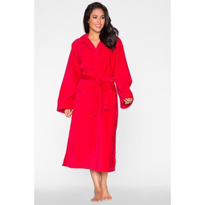 peignoir de bain mixte rouge capuche achat vente. Black Bedroom Furniture Sets. Home Design Ideas