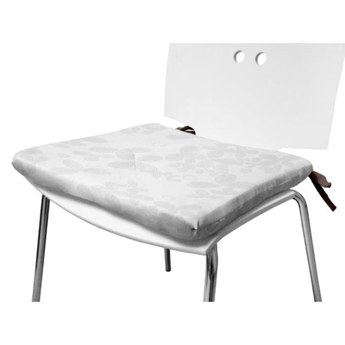 dessus de chaise amelia blanc achat vente coussin de chaise les soldes sur cdiscount. Black Bedroom Furniture Sets. Home Design Ideas