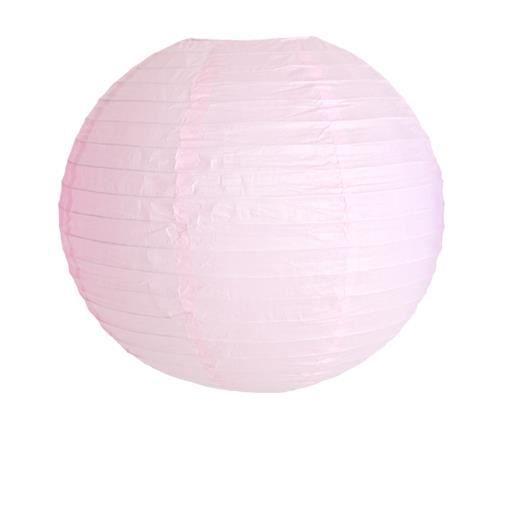 deco pour mariage f te boule papier 40cm rose p le lot de 3 pi ces achat vente lanterne. Black Bedroom Furniture Sets. Home Design Ideas