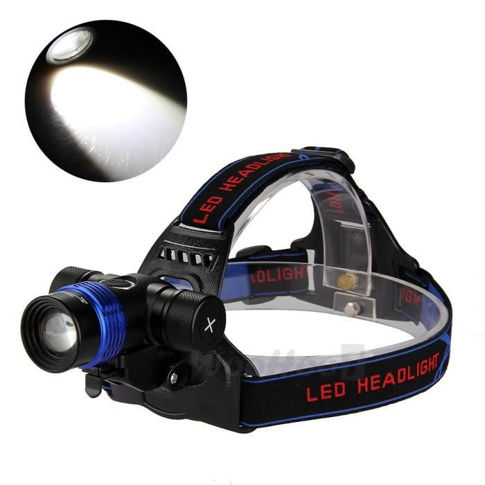 cree t6 led 1600lm le frontale phare light b achat vente eclairage pour cycle cree t6