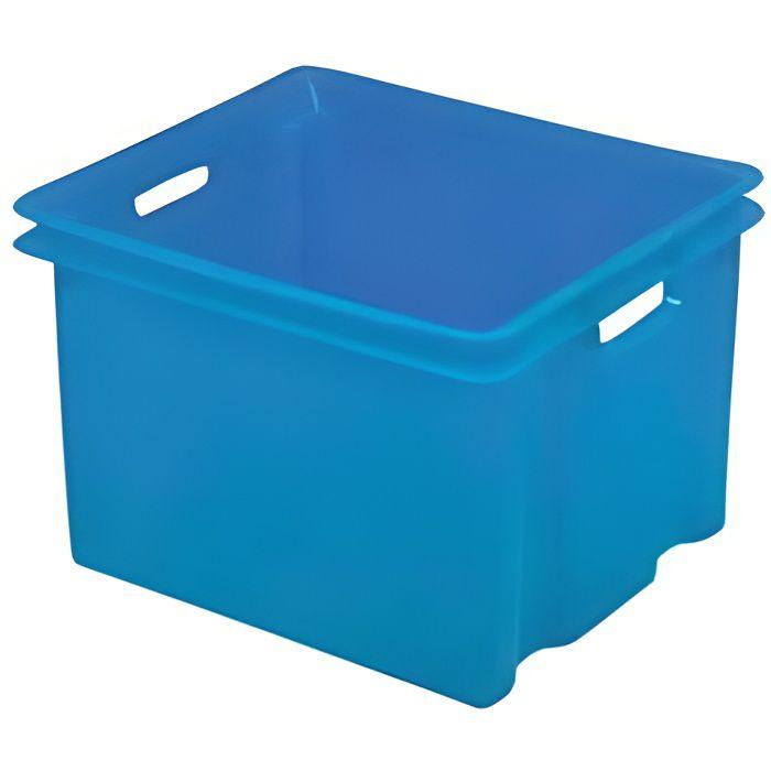 bac de rangement en plastique sans couvercle 50l achat vente boite de rangement plastique. Black Bedroom Furniture Sets. Home Design Ideas