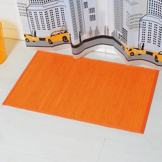 tapis de bain lattes bambou orange achat vente tapis de bain cdiscount. Black Bedroom Furniture Sets. Home Design Ideas