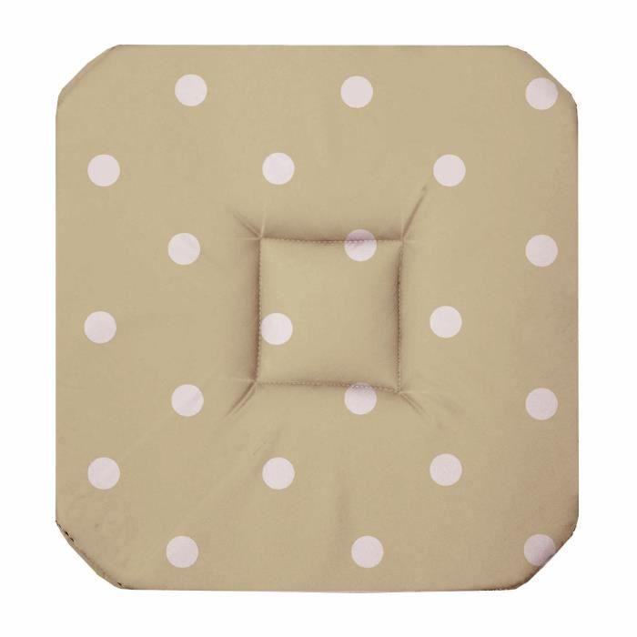 Galette de chaise 4 rabats lollypop taupe achat vente for Galette de chaise 4 rabats
