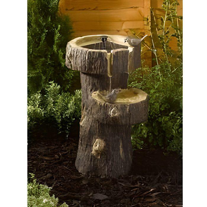 Fontaine solaire tronc d arbre achat vente fontaine de jardin fontaine solaire tronc d ar - Meuble tronc arbre ...