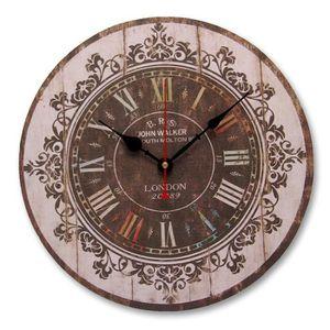 horloge murale ancienne en bois. Black Bedroom Furniture Sets. Home Design Ideas