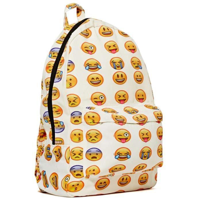 sac emoji sac a dos d 39 cole achat vente sac dos. Black Bedroom Furniture Sets. Home Design Ideas