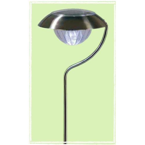 Lampe de jardin inox led blanche solaire achat vente lampe de jardin inox inox cdiscount for Lampe solaire jardin aulnay sous bois