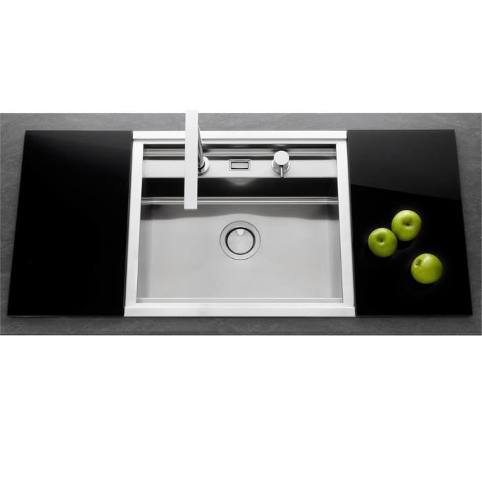 Vier inox lisse osiris 1 bac 570x500 planche achat for Evier cuisine inox 1 bac