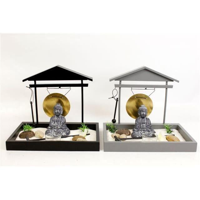 Jardin zen gong noir achat vente bougeoir cdiscount for Achat jardin zen