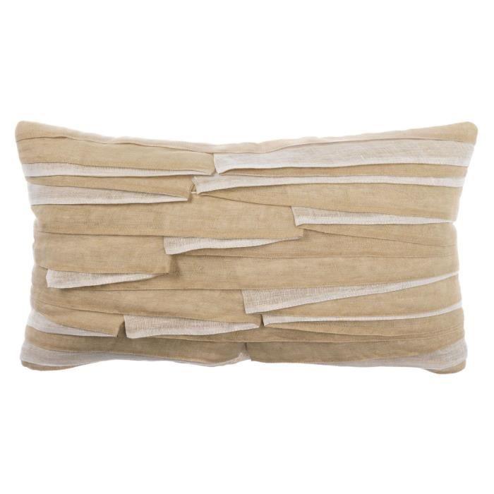 housse de coussin karamea 30x50 cm cailloux achat. Black Bedroom Furniture Sets. Home Design Ideas