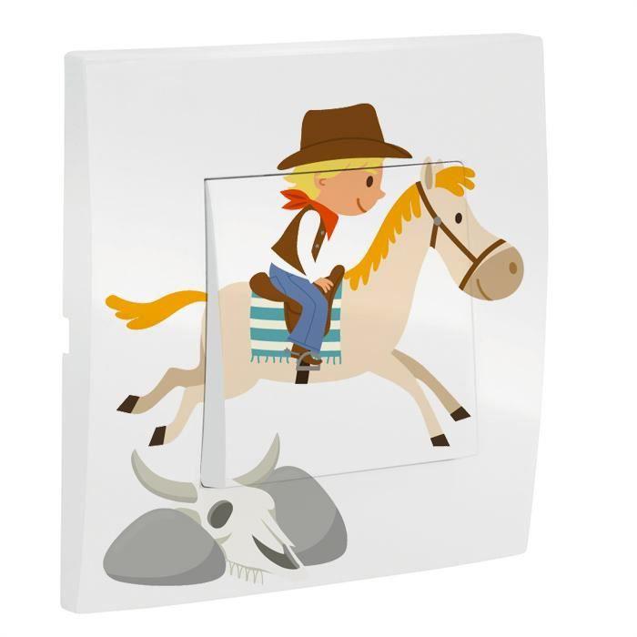 Interrupteur decore cowboy achat vente interrupteur for Interrupteur decore