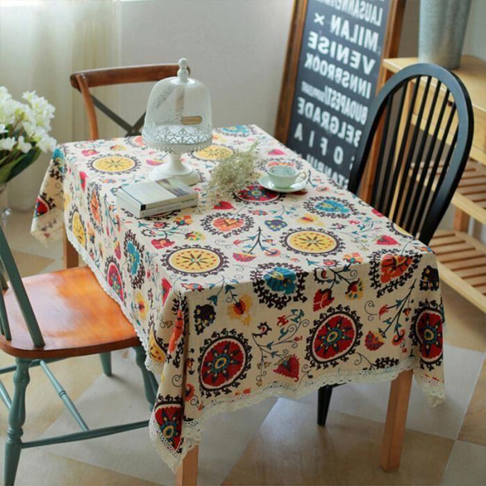 Elenxs 60 60cm nappe de table carr fleur de tournesol - Nappe de table carre ...