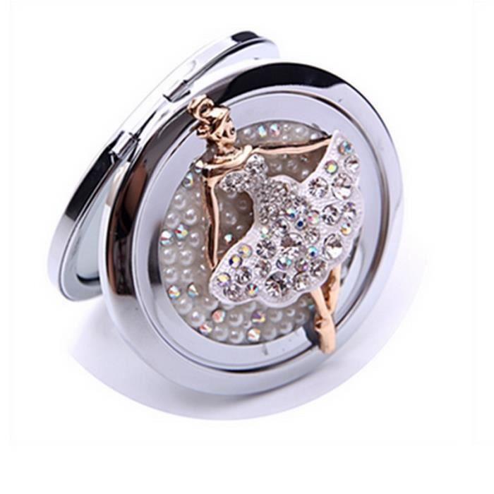 Petit diamant m tallique circulaire cosm tiques pliage for Diamant coupe miroir
