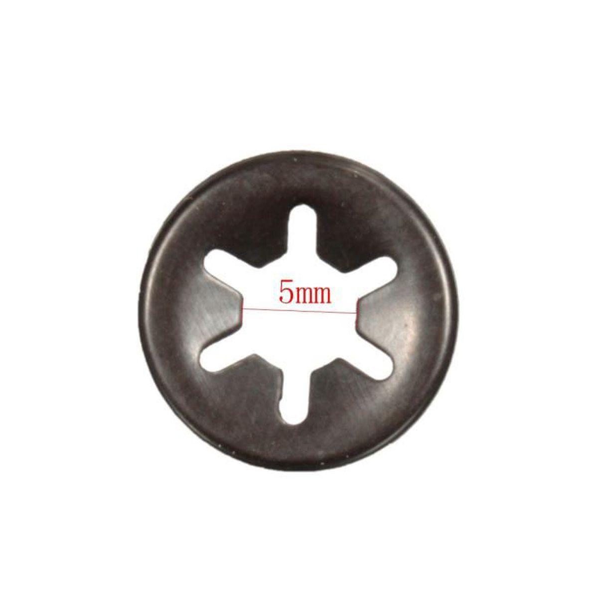Neufu 10pcs starlock rondelle blocage fixation attache vitesse antivol clips 5mm achat vente - Rondelle pour gond de porte ...