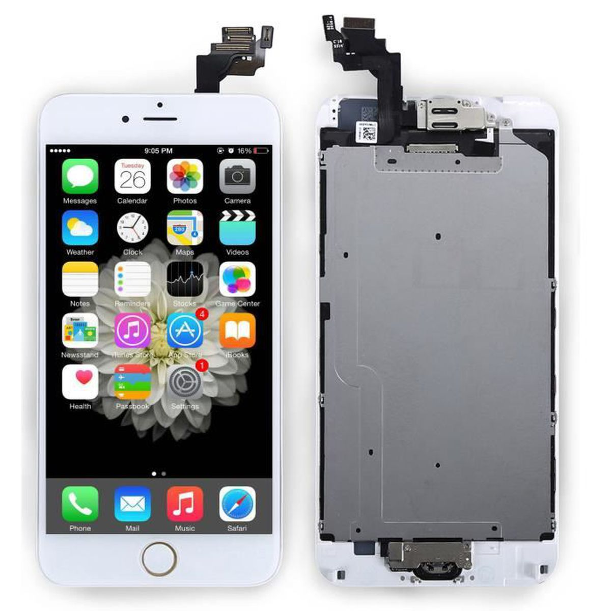 noir ecran lcd pour iphone 6 plus 5 5 vitre tactile dalle carde camera bouton home achat. Black Bedroom Furniture Sets. Home Design Ideas