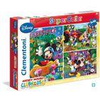 PUZZLE MICKEY Puzzle 3 x 48 pièces Clementoni