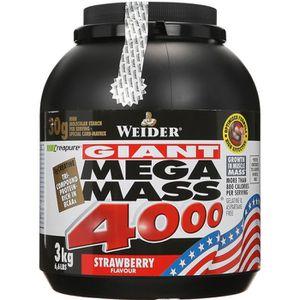 WEIDER Pot de Mega Mass 4000 Fraise 3kg