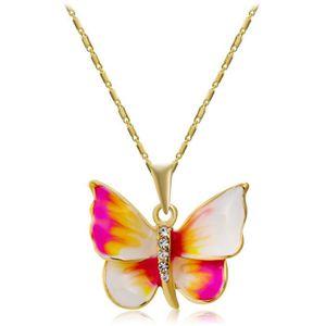 SAUTOIR ET COLLIER Collier pendentif papillon coloré bijoux fantaisie