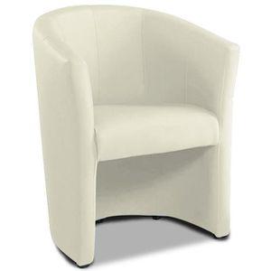 fauteuil cabriolet blanc achat vente fauteuil cabriolet blanc pas cher cdiscount. Black Bedroom Furniture Sets. Home Design Ideas