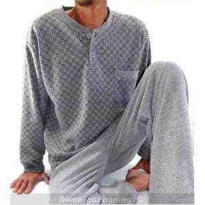 Pyjama homme hiver molletonn chaud et conforta gris for Pyjama homme chaud