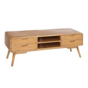 Meuble tv en bois clair achat vente meuble tv en bois for Meuble tv bois naturel