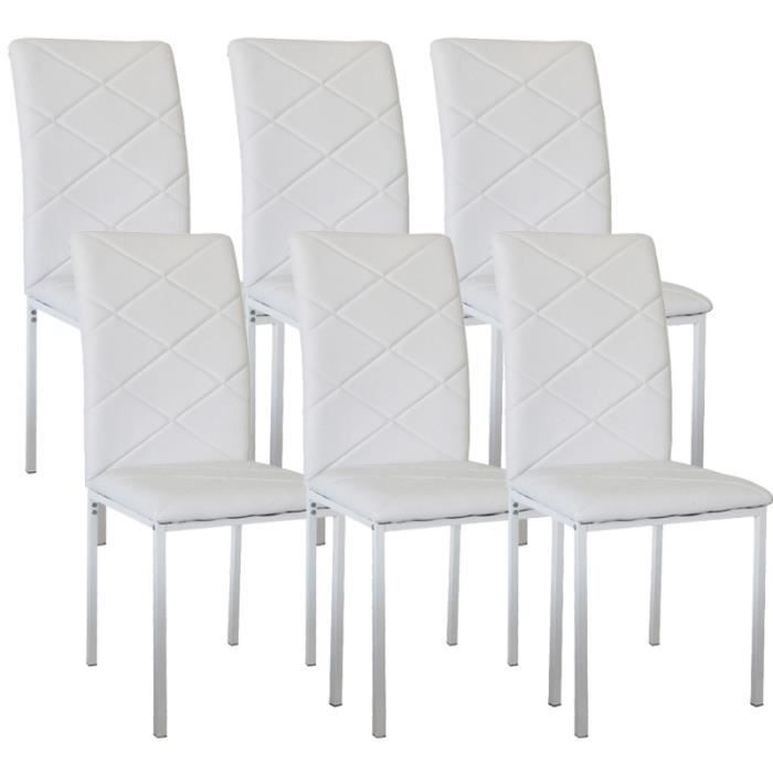 Lot de 8 chaises blanche ray achat vente chaise blanc for Chaise blanche confortable