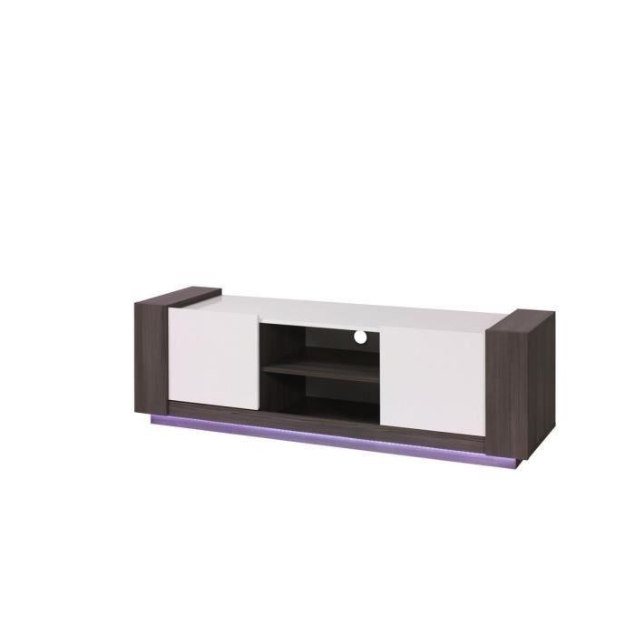 Meuble de tv blanc et gris nuance meuble house blanc - Meuble tv blanc et gris ...