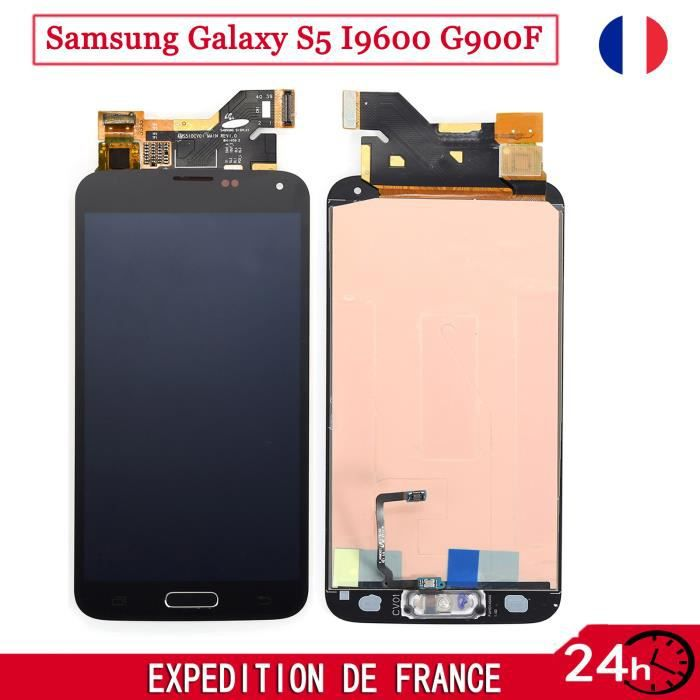 pour samsung galaxy s5 i9600 g900f complet cran lcd vitre tactile home bouton achat pi ce. Black Bedroom Furniture Sets. Home Design Ideas