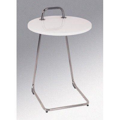 haku m bel 33385 table basse d 39 appoint tube d 39 acier noir nickel blanc achat vente table. Black Bedroom Furniture Sets. Home Design Ideas