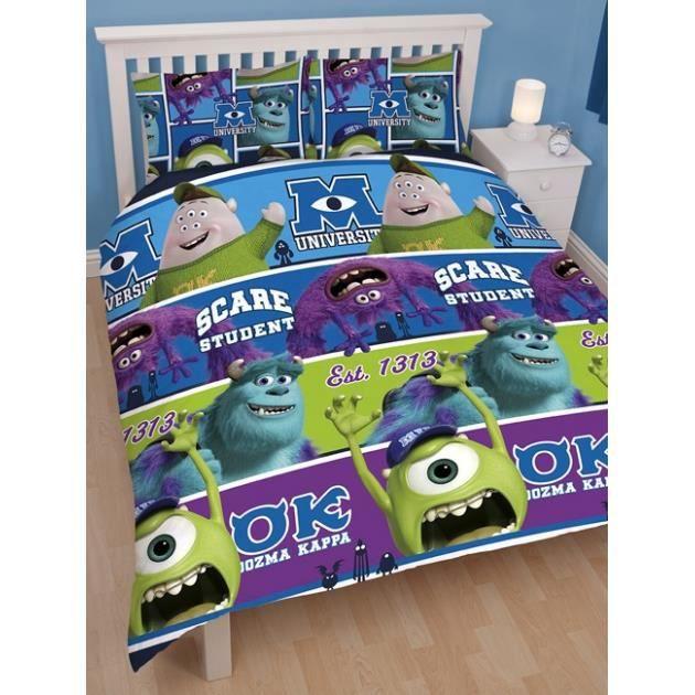 monstres et cie parure de lit housse de cou achat vente parure de couette cdiscount. Black Bedroom Furniture Sets. Home Design Ideas