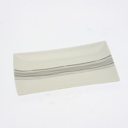 Assiette rectangulaire en porcelaine lignes l achat for Service de table rectangulaire