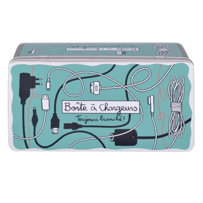 Bo Te De Rangement Chargeurs Toujours Branch En M Tal Bleu Id E Cadeau Original Pour Femme
